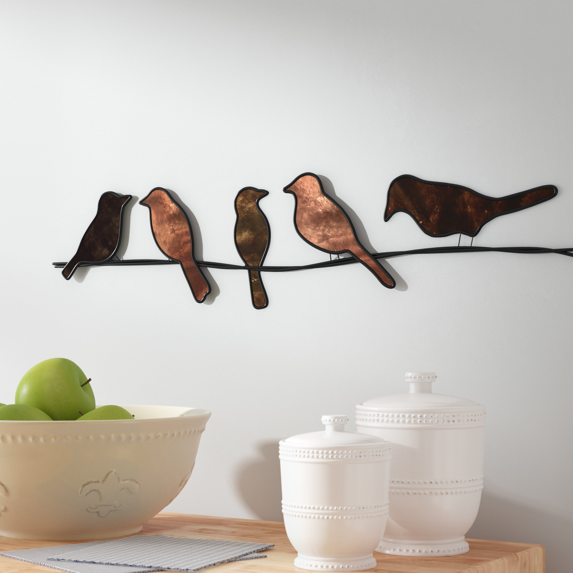 Wayfair Intended For Rioux Birds On A Wire Wall Decor (View 18 of 20)