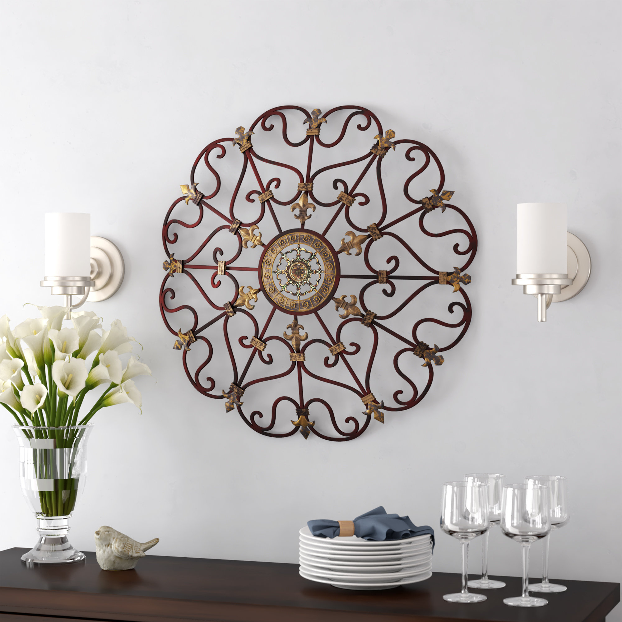 Wayfair Within Newest Raheem Flowers Metal Wall Decor By Alcott Hill (Gallery 13 of 20)