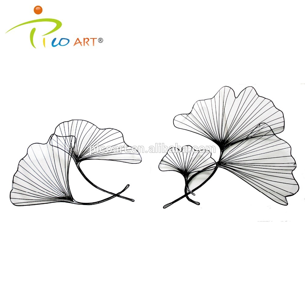 Well Known 3D Hollow Metal Wall Art Sculpture Concise Iron Wire Lotus Leaf Wall Intended For Tree Shell Leaves Sculpture Wall Decor (Gallery 9 of 20)