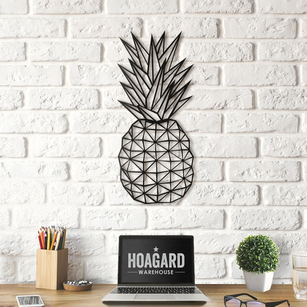 Well Known Pineapple Wall Decor Regarding Geometric Pineapple Wall Art – Red Candy (View 4 of 20)