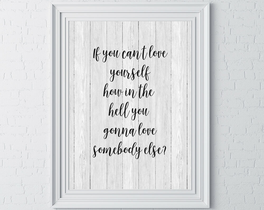 Well Known Rupaul Quote Wall Print Typography Inspirational Motivational Quote Inside Rectangle Like Yourself Inspirational Typography Wall Plaque (View 18 of 20)