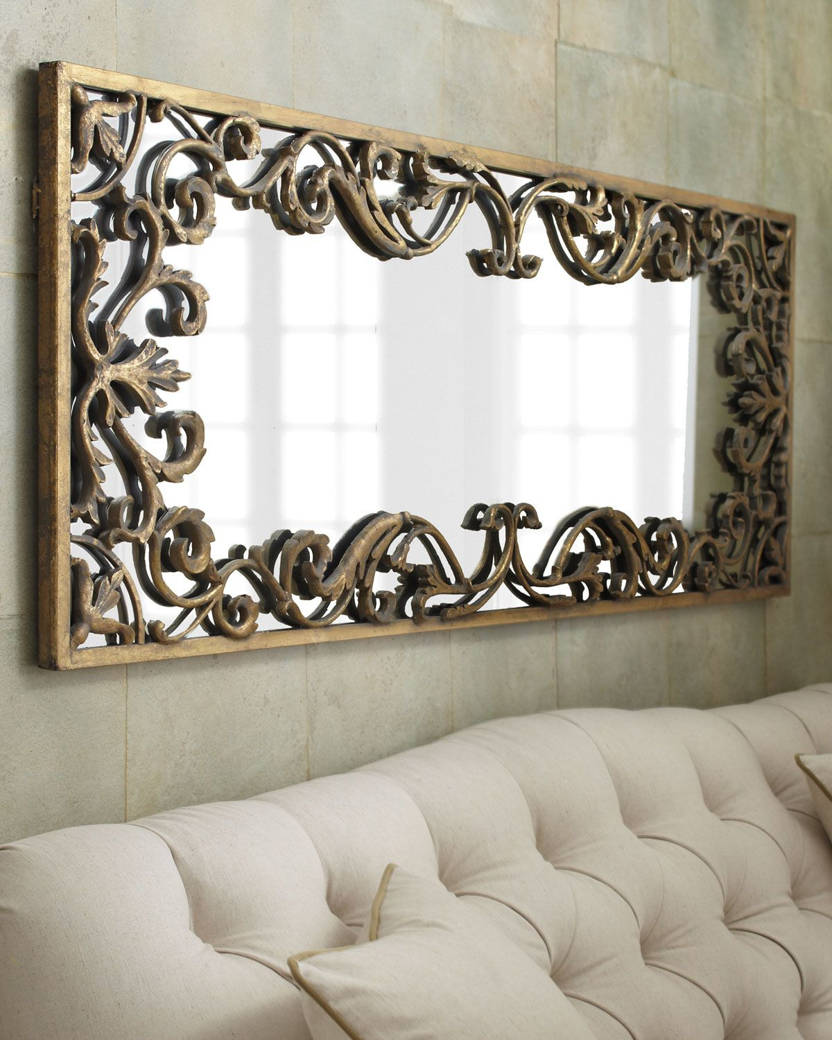 Well Known Scroll Framed Wall Decor Throughout Apricena Scroll Framed Mirror (Gallery 19 of 20)