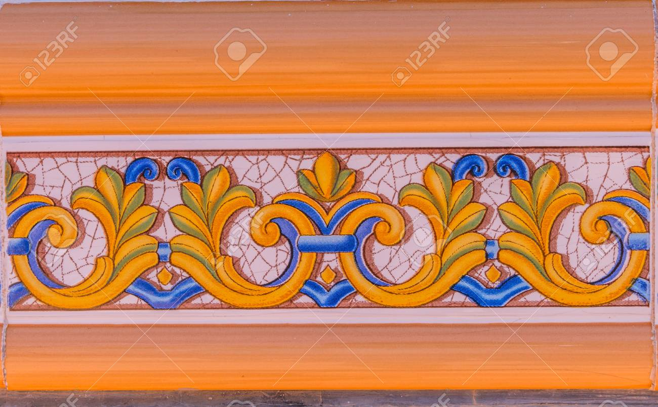 Well Known Traditional Ornamental Spanish Decorative Tiles, Original Ceramic Throughout Spanish Ornamental Wall Decor (Gallery 13 of 20)