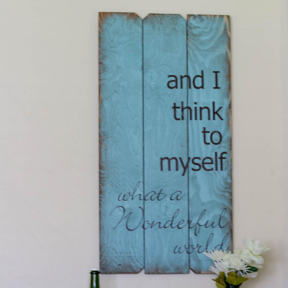 """Well Known Wonderful World Wall Decor By Latitude Run Within 18 In. X 36 In. """"wonderful World""""boulder Innovations Wood Wall (Gallery 2 of 20)"""
