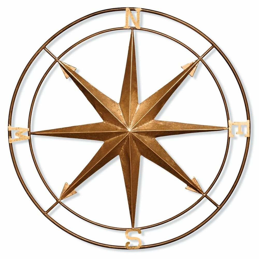 Well Liked Compass Wall Decor Metal Vintage Style Nautical Art Hanging With Raised Star Wall Decor (View 17 of 20)