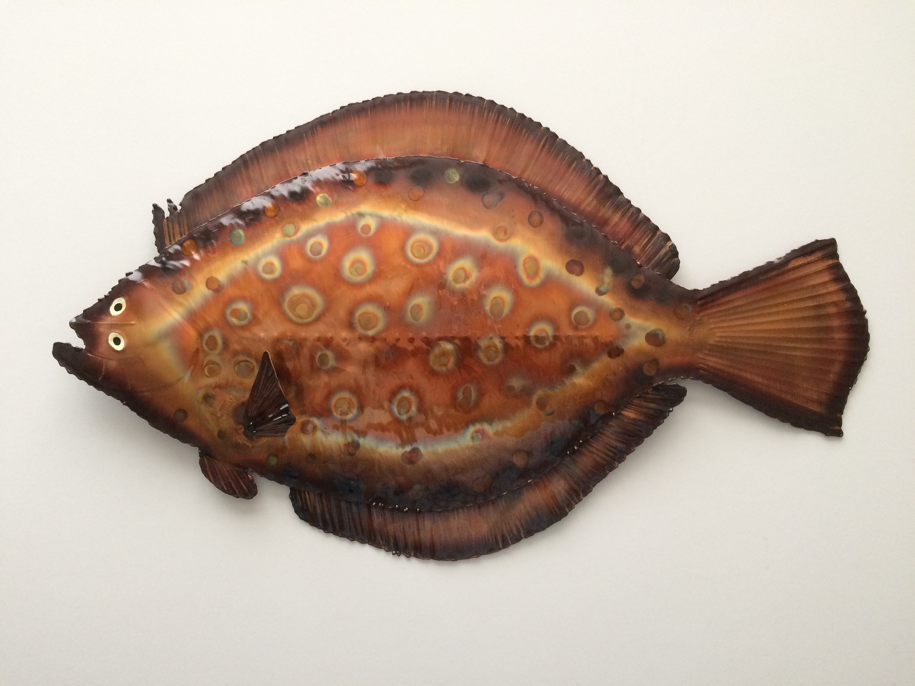 Widely Used Coastal Metal Fish Wall Decor With Copper Flounder/wall Decor/coastal Decor/coastal Wall Art/metal Fish (Gallery 11 of 20)