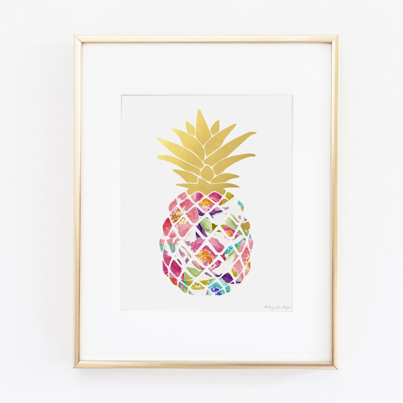 Widely Used Pineapple Wall Decor Pertaining To Wall Art Design Ideas, Colroful Fruit Pineapple Wall Art Picture (View 7 of 20)