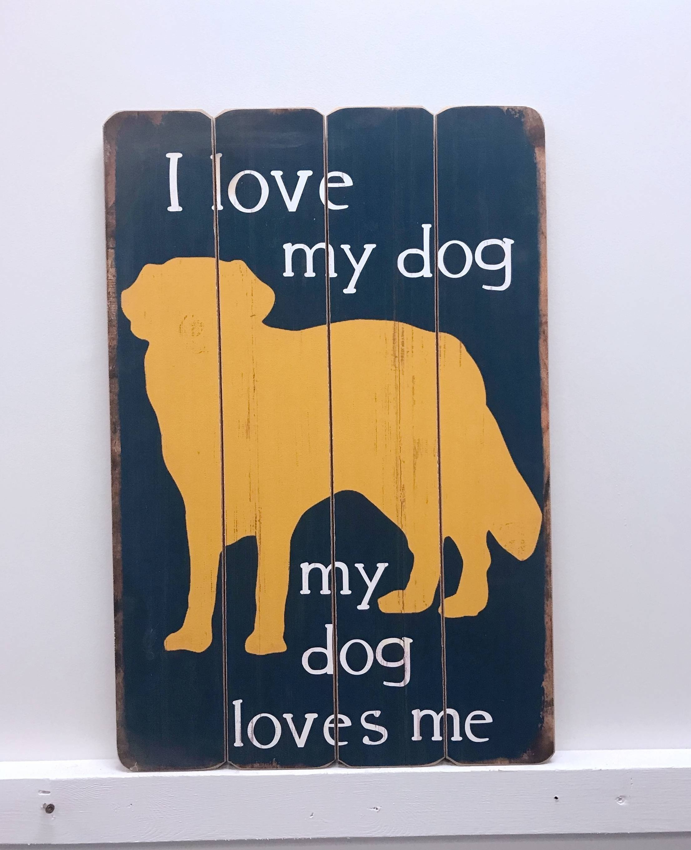 Winston Porter Love Dog Wooden Sign Wall Décor (View 17 of 20)