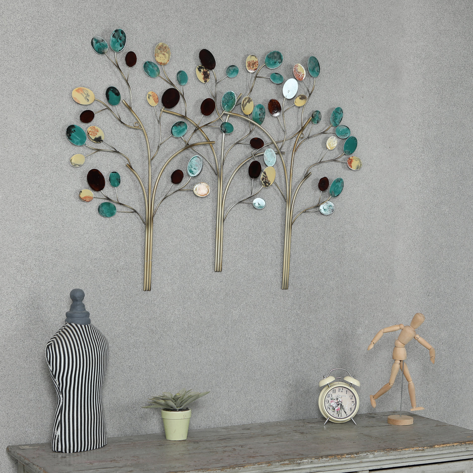 Winston Porter Metal Trees Wall Décor & Reviews (View 18 of 20)