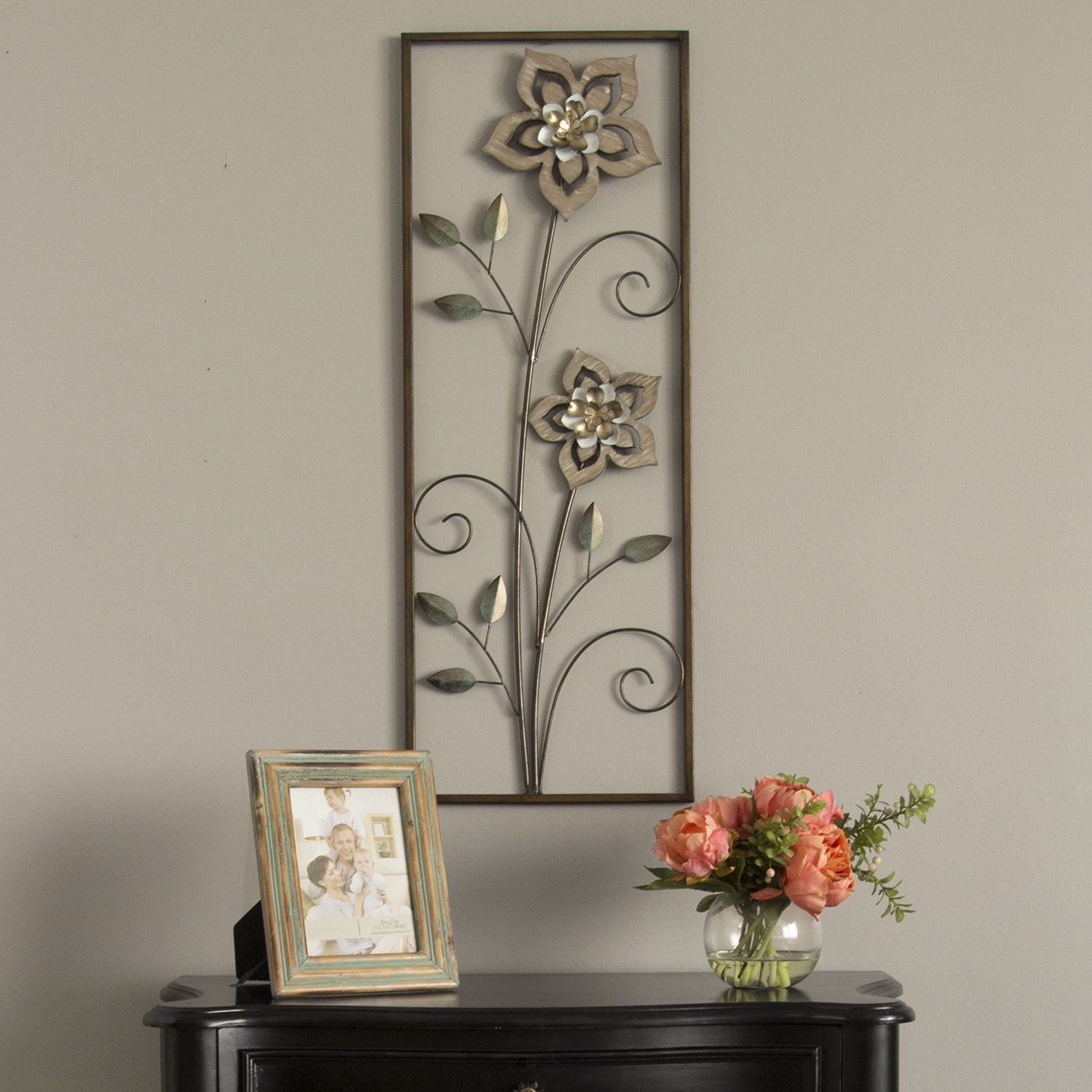 Wood Flower Panel Wall Décor (View 19 of 20)