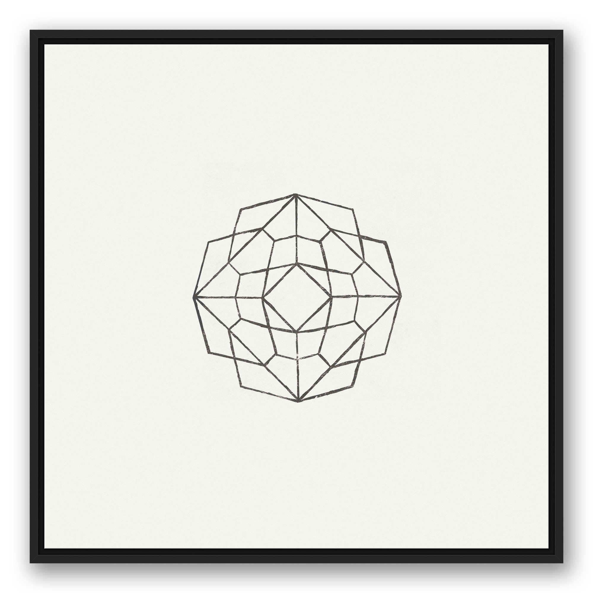 Wrought Studio 'geometric Sketch' Framed Graphic Art Print On Canvas Inside 2019 Rings Wall Decor By Wrought Studio (View 10 of 20)
