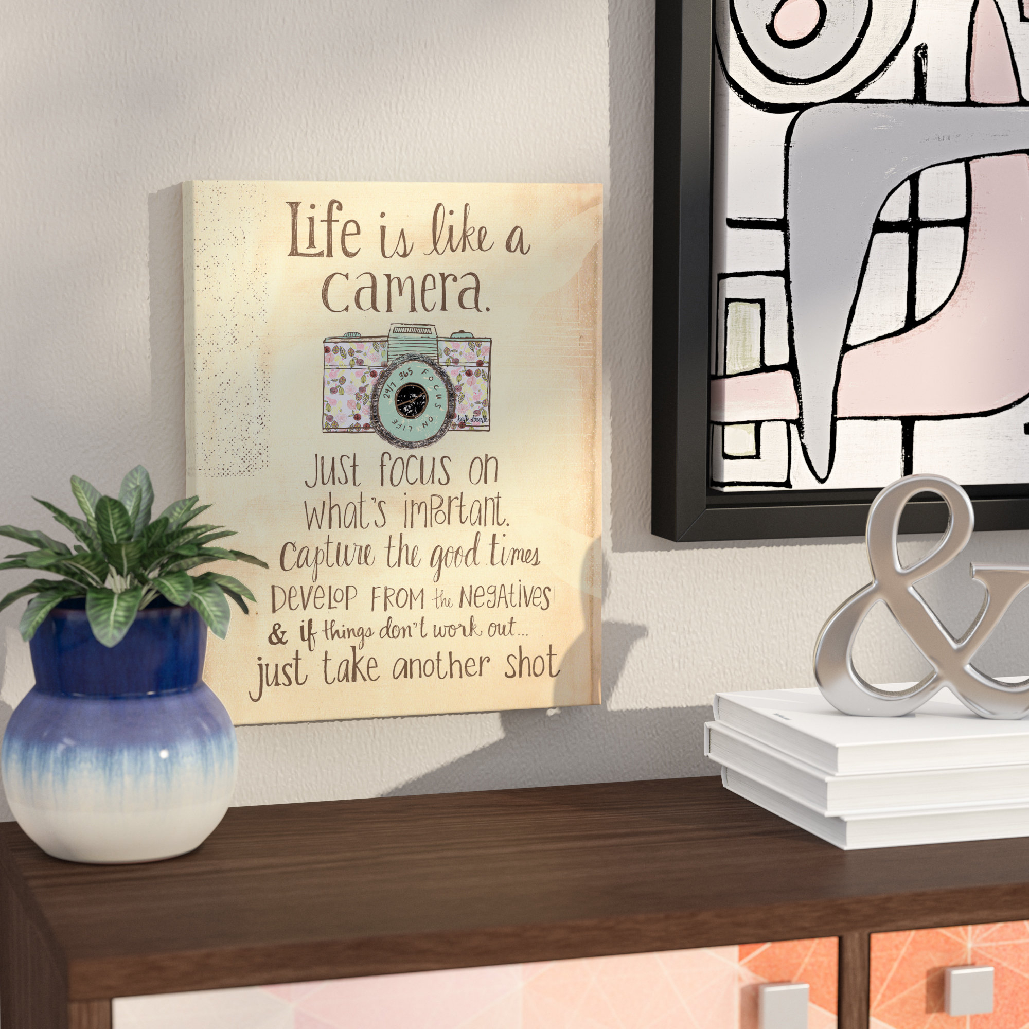 Wrought Studio Inspirational 'life Is Like A Camera' Textual Art Within Popular Life Is Like A Camera Textual Art (View 12 of 20)