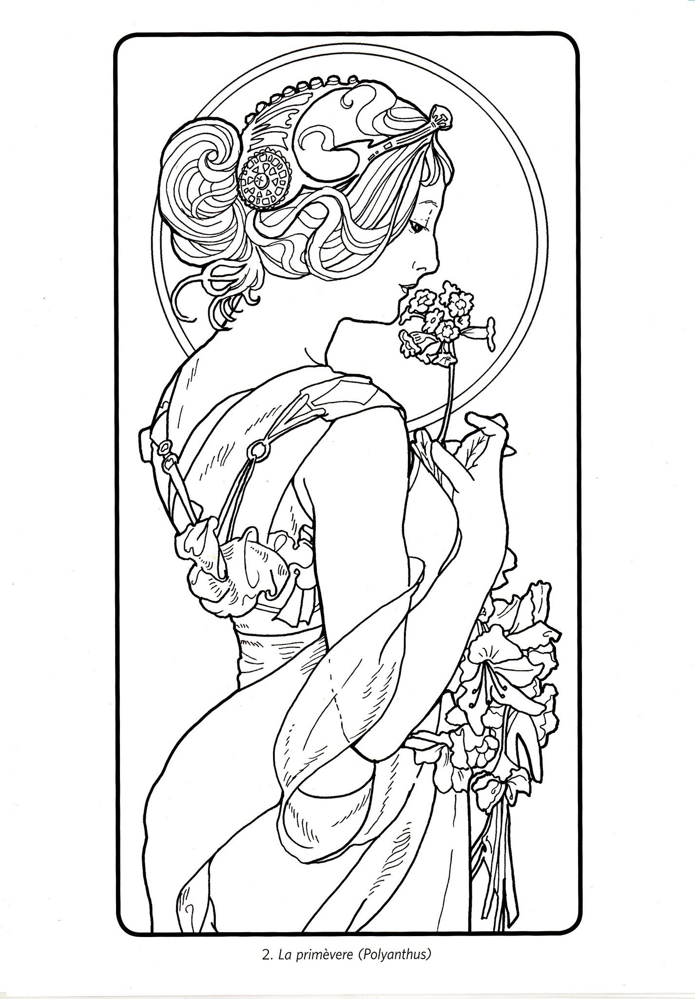 10+ Coloring Art Ideas | Art, Mucha Art, Alphonse Mucha Pertaining To Most Popular Blended Fabric Mucha Spring European Wall Hangings (View 17 of 20)