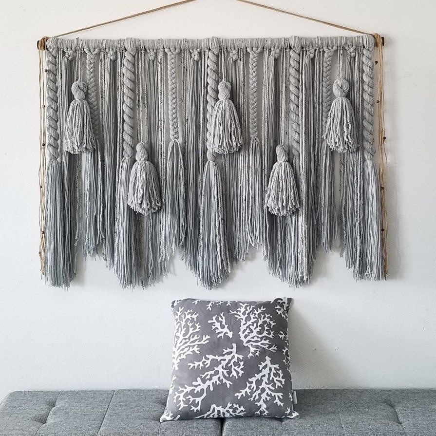 100+ Cotton Wall Hanging Ideas In 2021 | Wall Hanging, Yarn Regarding Most Recent Blended Fabric Breeze Of Admiration Woven Tapestries (View 17 of 20)