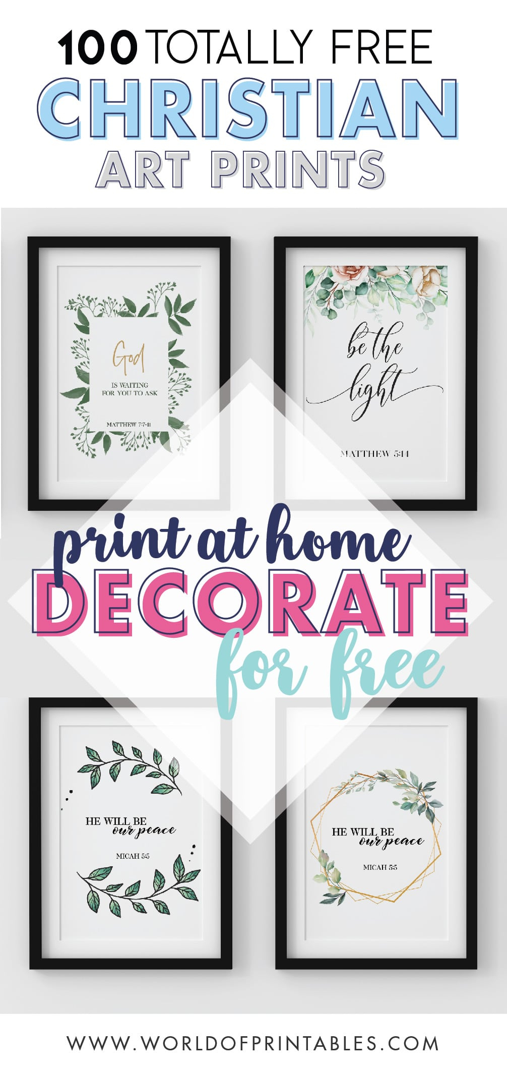 100 Free Printable Bible Quotes And Verse Wall Art – World Within Current Peace I Leave With You Wall Hangings (View 13 of 20)