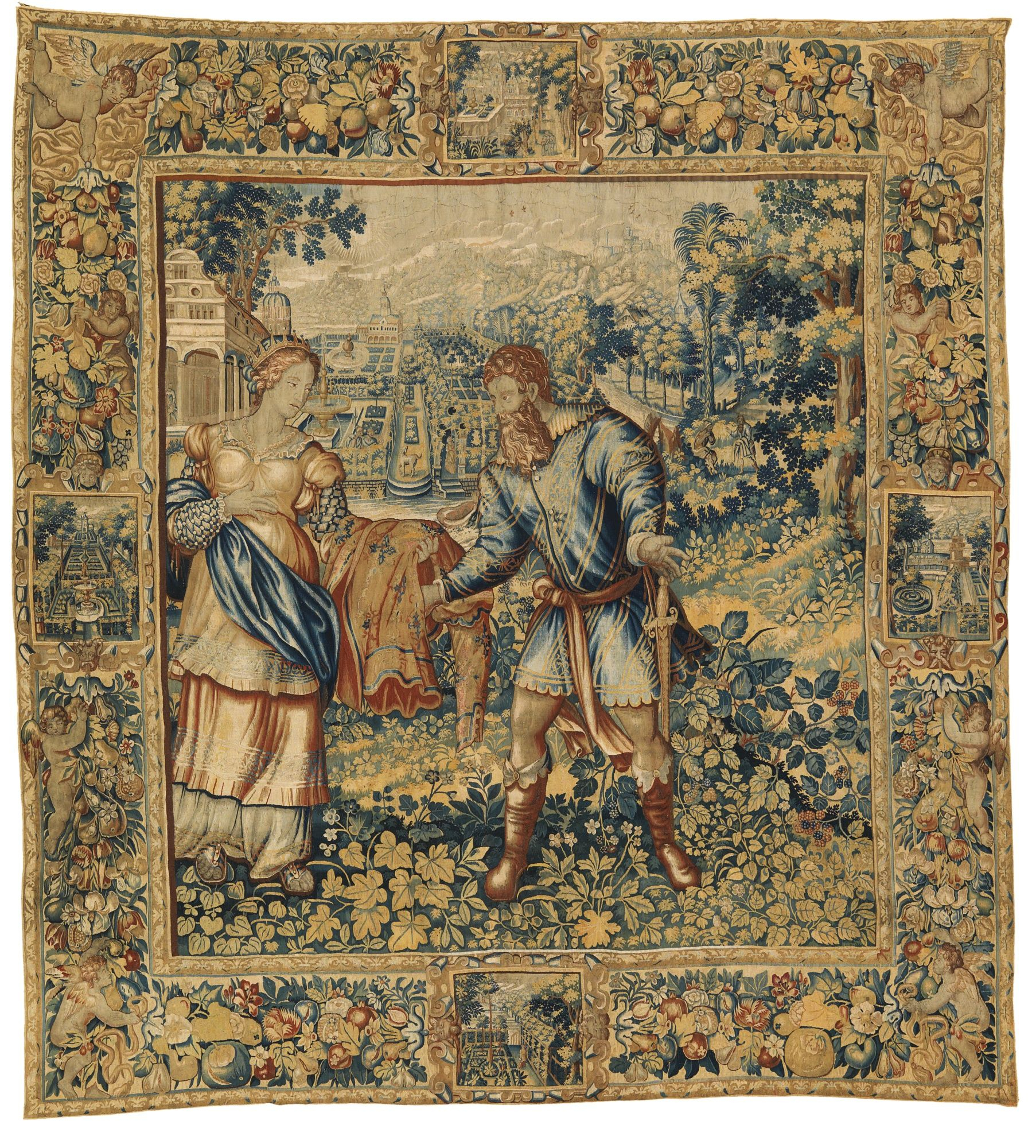100+ Tapestry Ideas | Tapestry, Art, Medieval Tapestry Inside Most Current Blended Fabric Verdure Au Chateau Ii European Tapestries (View 6 of 20)