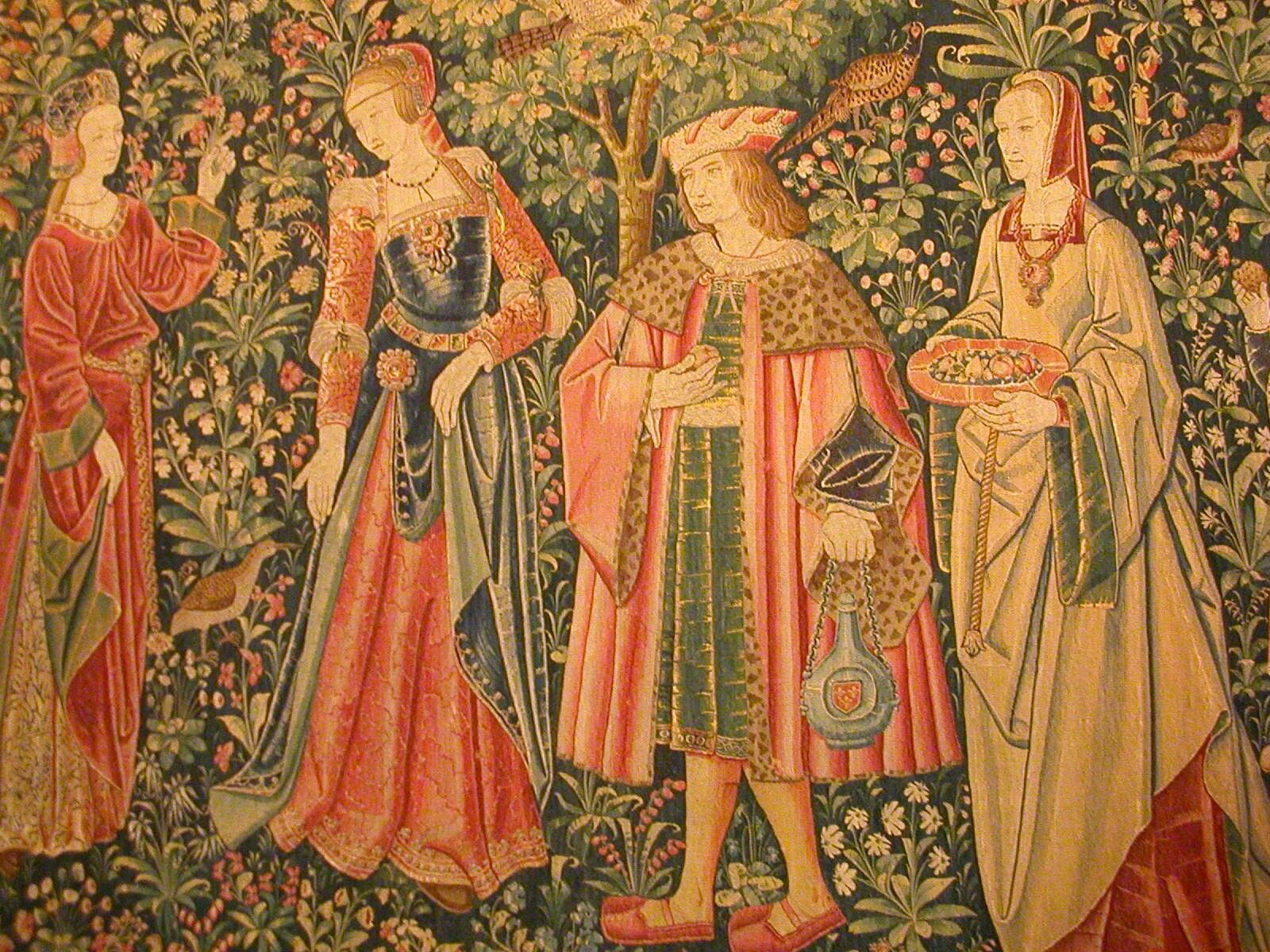 1500 (approx) – Tapestry Of Court Life – The Promenade – At Regarding Most Recent Blended Fabric Mucha Spring European Wall Hangings (View 10 of 20)