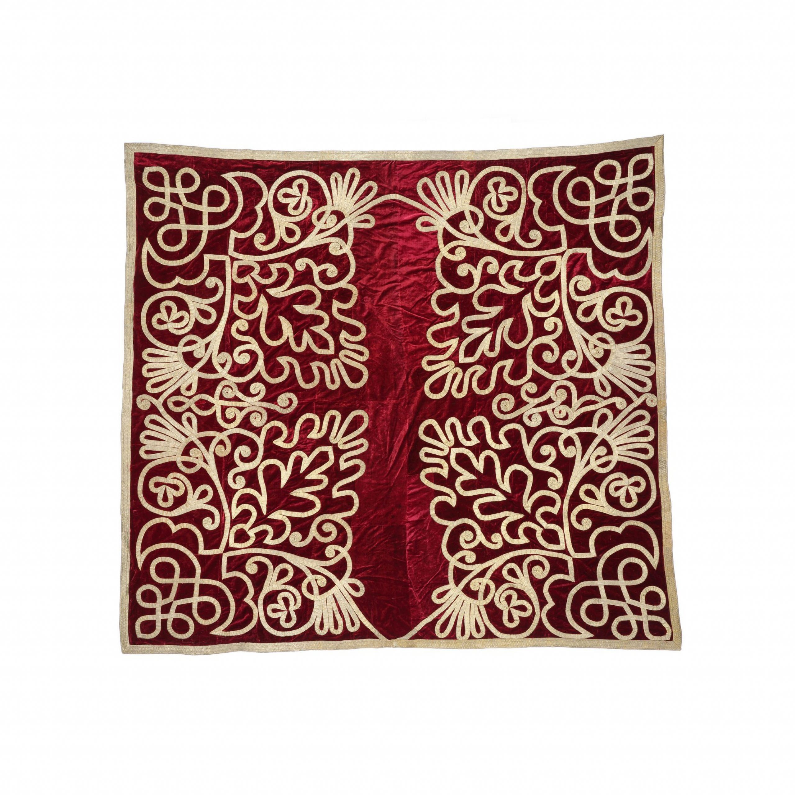 19th Century Scarlet Velvet Wall Hanging Throughout 2018 Blended Fabric Italian Wall Hangings (View 18 of 20)
