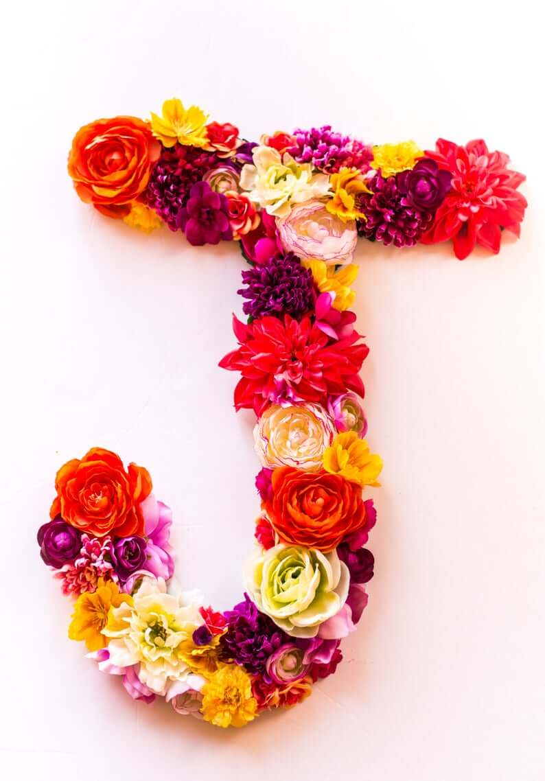 32 Best Flower Letters That Will Put Your Signature On Your For Recent Blended Fabric Fruity Bouquets Wall Hangings (View 14 of 20)