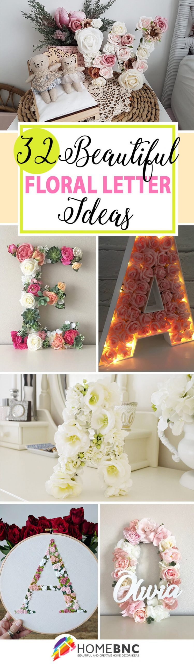 32 Best Flower Letters That Will Put Your Signature On Your Pertaining To Current Blended Fabric Fruity Bouquets Wall Hangings (View 17 of 20)