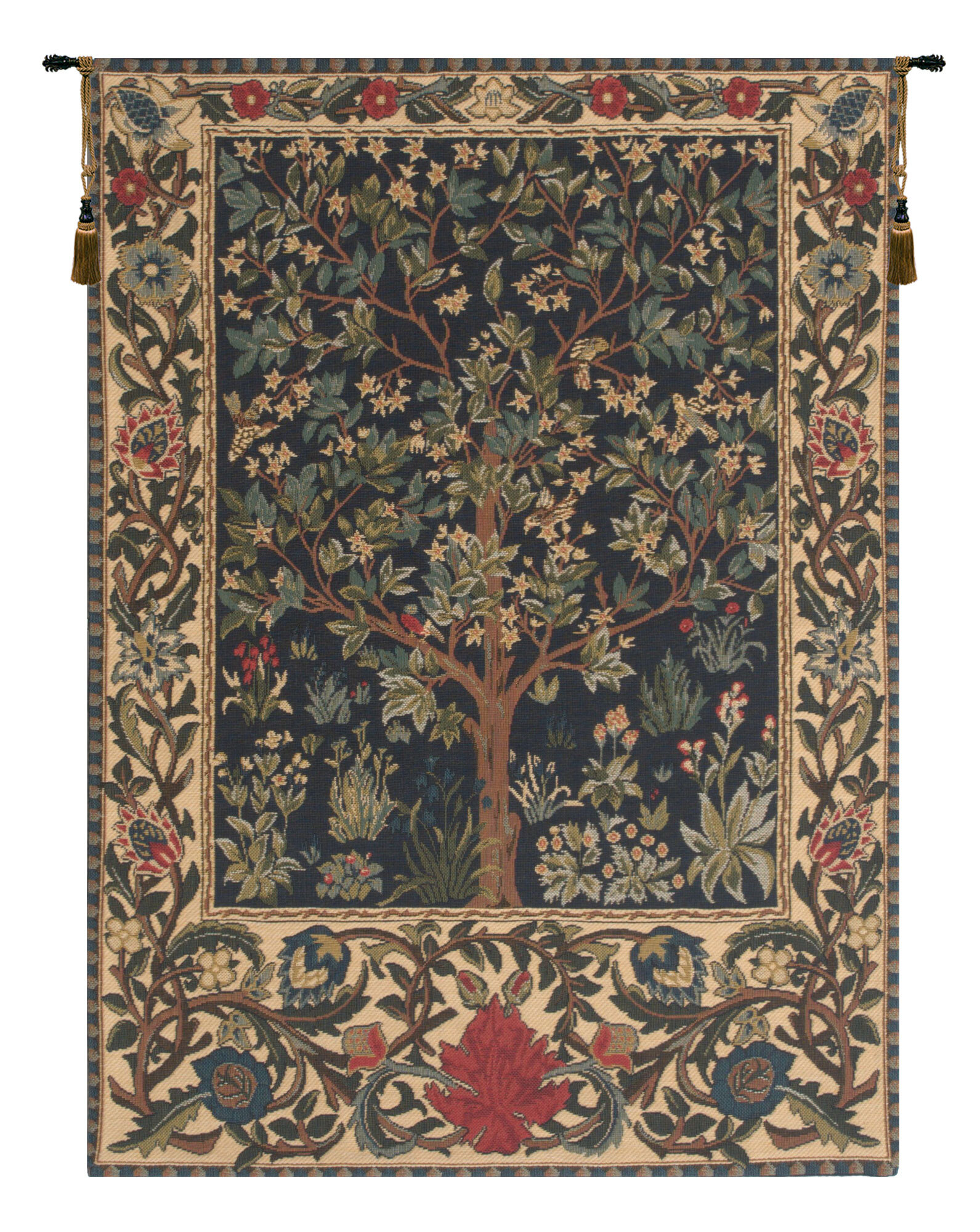 40 X 60 Art Tapestries You'll Love In 2021 | Wayfair With 2018 Blended Fabric Pheasant And Doe European Tapestries Wall Hangings (View 2 of 20)