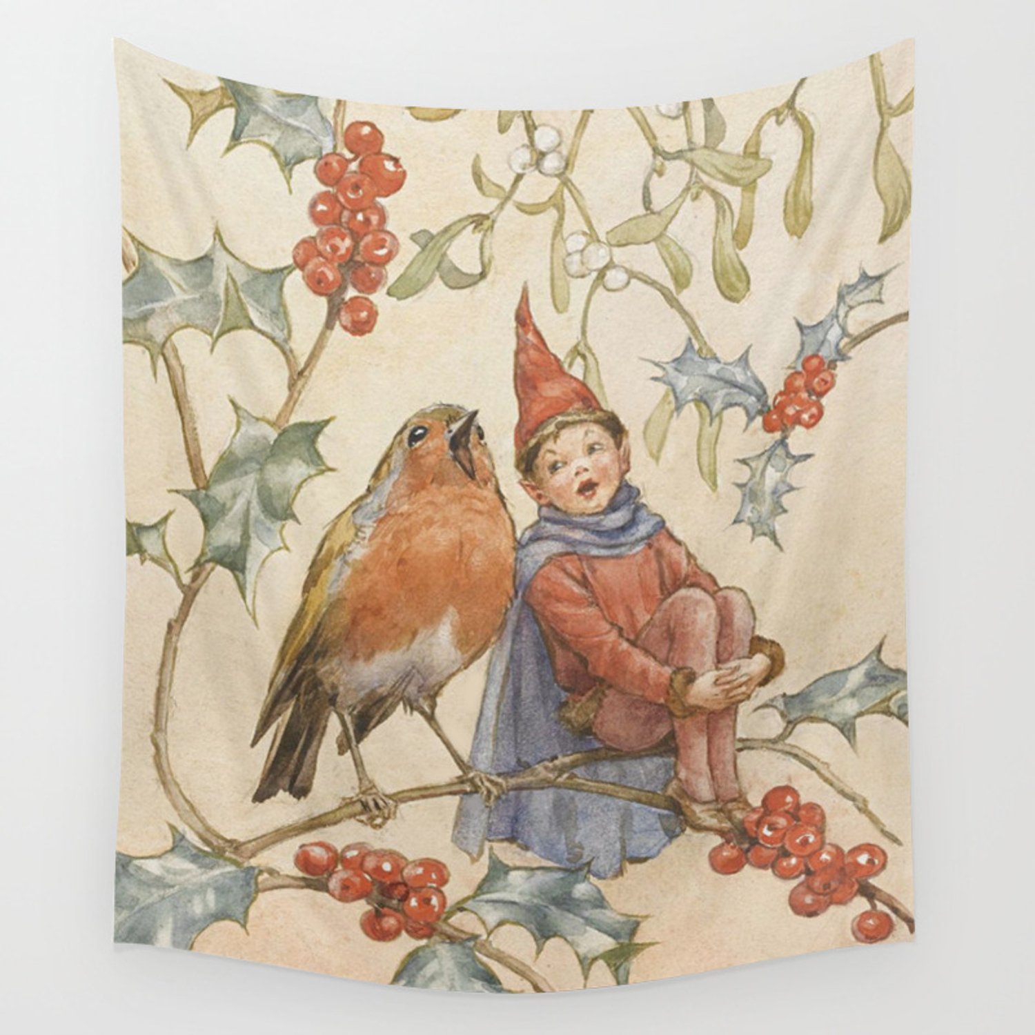 """""""a Christmas Duet""""margaret Tarrant Wall Tapestrypatriciannek In 2018 Birds Face To Face I European Tapestries (View 7 of 20)"""