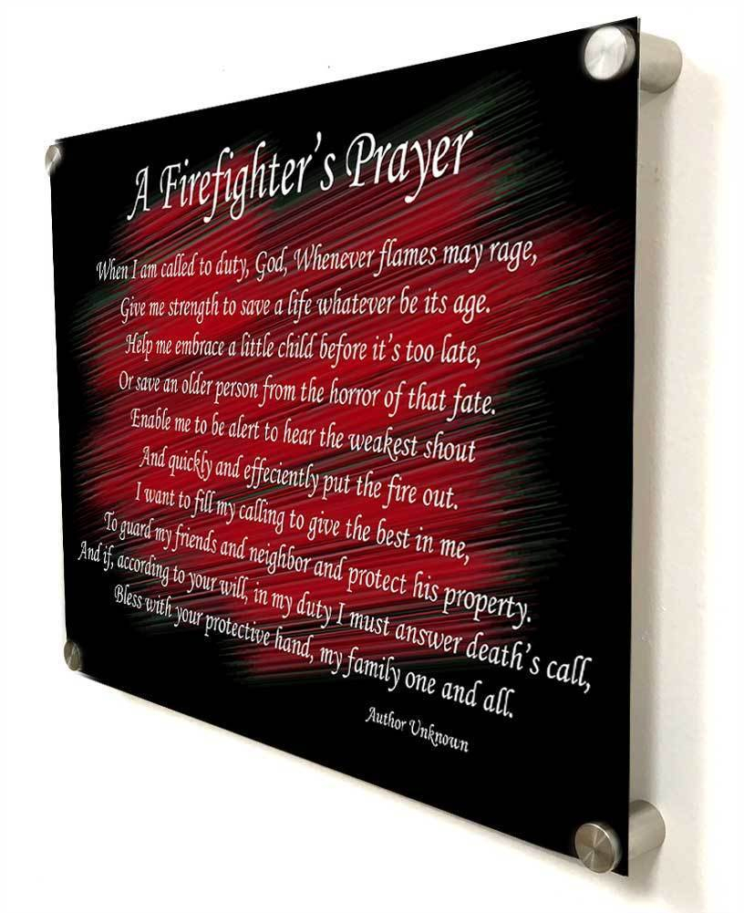 A Firefighter's Prayer Thin Red Line Wall Decoration Pertaining To Newest A Fireman Prayer Wall Hangings (View 4 of 20)