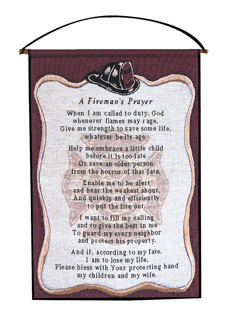 A Fireman's Prayer Wall Hanging In Most Recent A Fireman Prayer Wall Hangings (View 2 of 20)