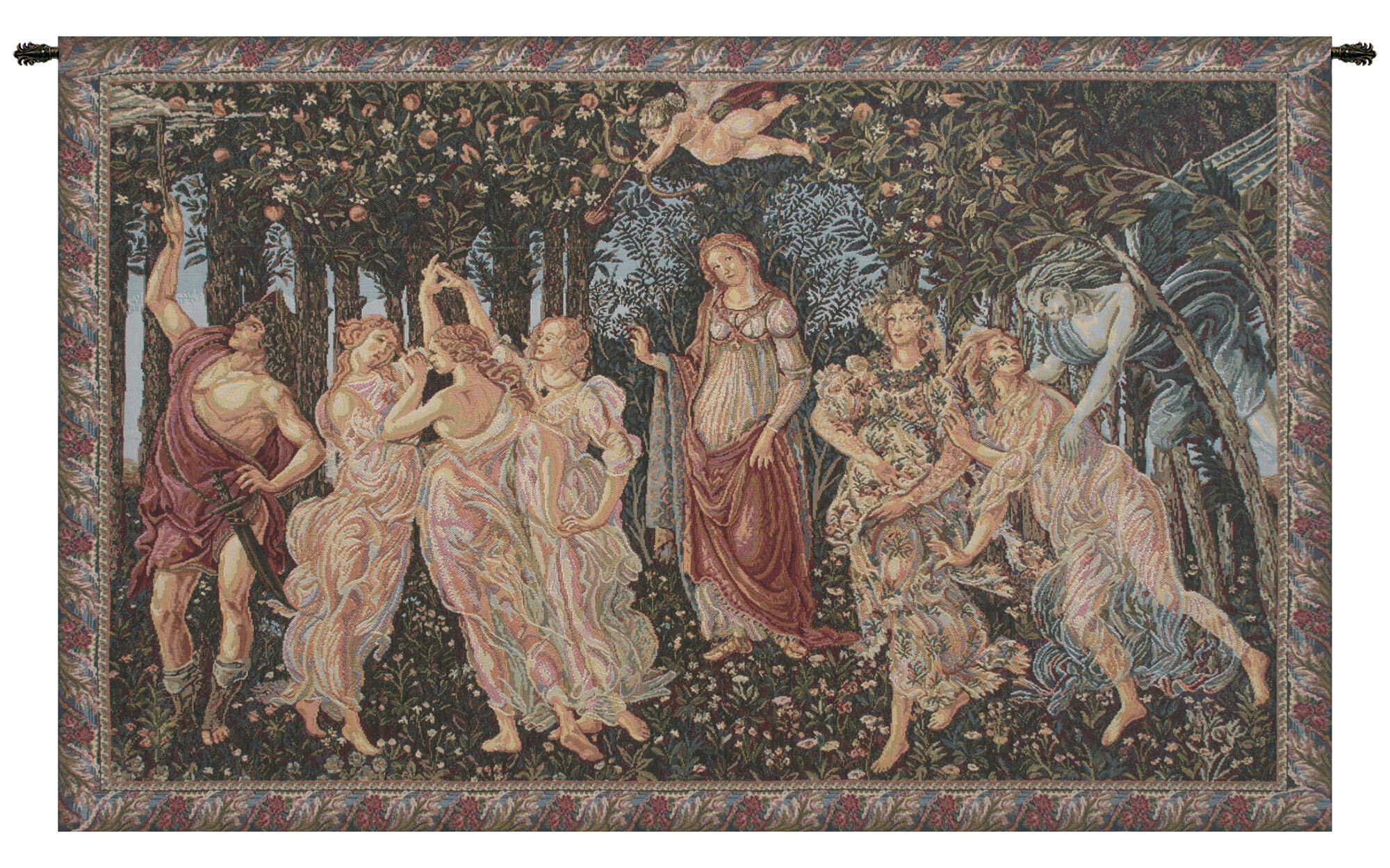 Allegory Of Spring European Tapestry With Most Popular Blended Fabric Mucha Autumn European Wall Hangings (View 3 of 20)