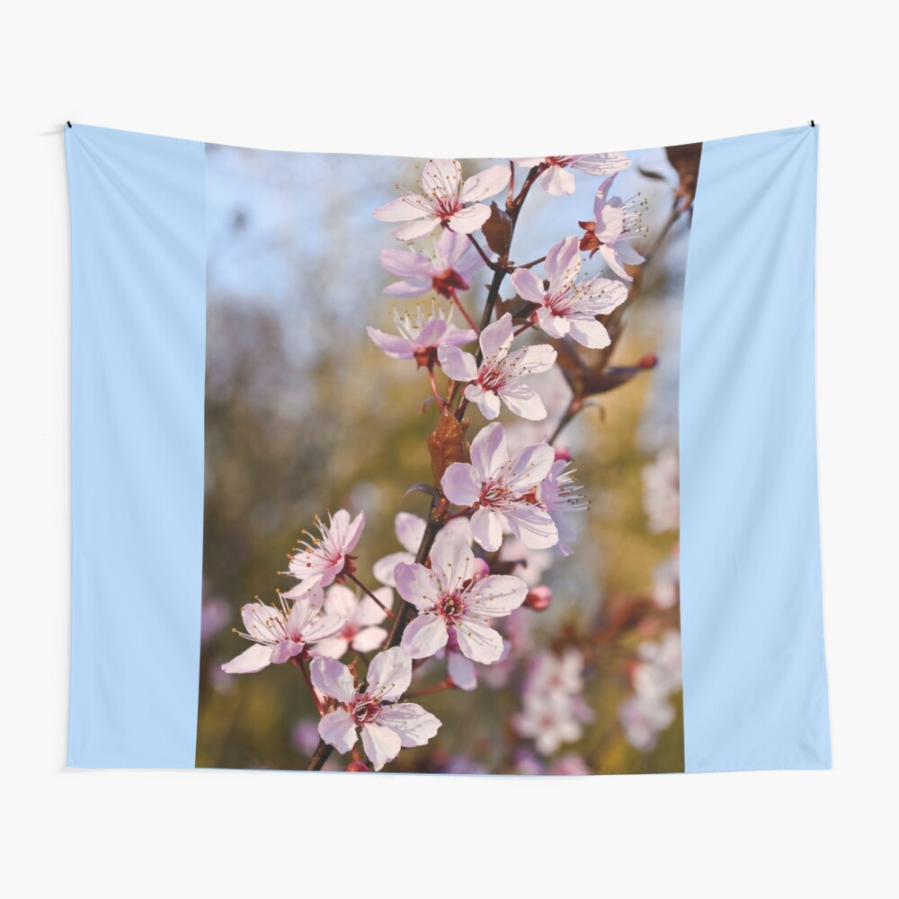 "Almond Blossoms In Spring"" Tapestrybonniephantasm Within Best And Newest Blended Fabric Spring Blossom Tapestries (View 4 of 20)"