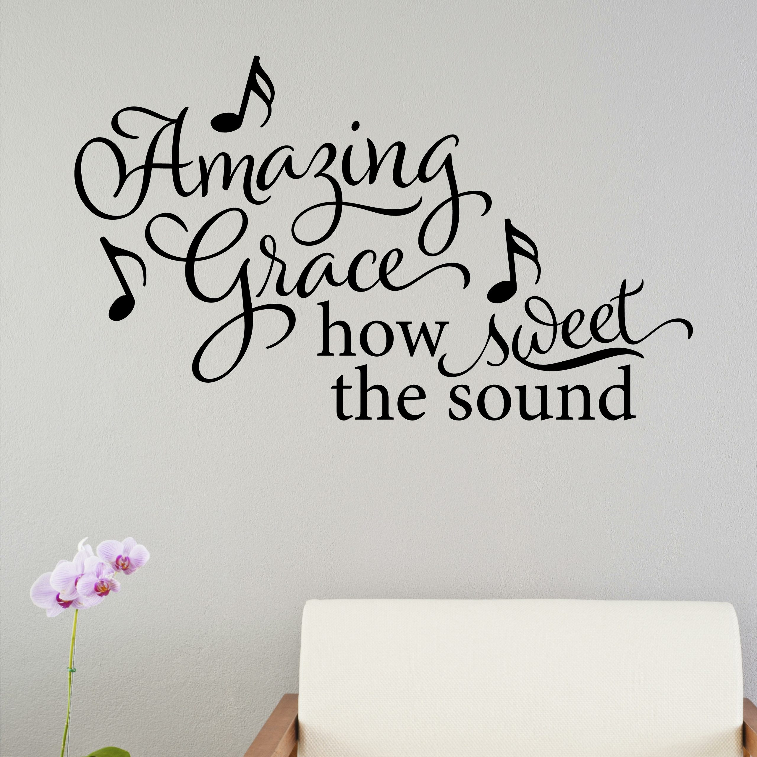 Amazing Grace How Sweet The Sound Wall Decal Intended For 2018 Blended Fabric Amazing Grace Wall Hangings (View 4 of 20)