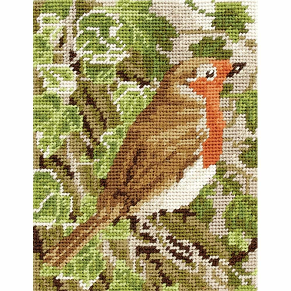 Anchor Robin Intermediate Tapestry Kit 18 X 14cm Throughout Best And Newest Birds Face To Face I European Tapestries (View 11 of 20)