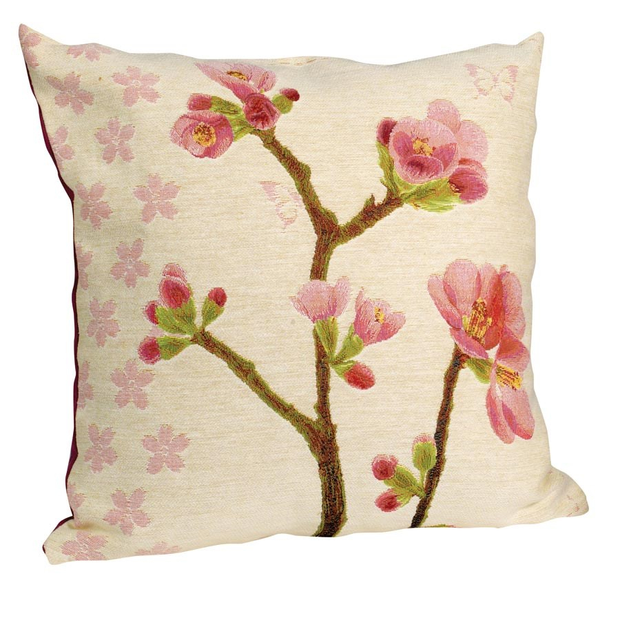Apple Blossom Pillow, Small Flowers Within Most Up To Date Blended Fabric Spring Blossom Tapestries (View 10 of 20)