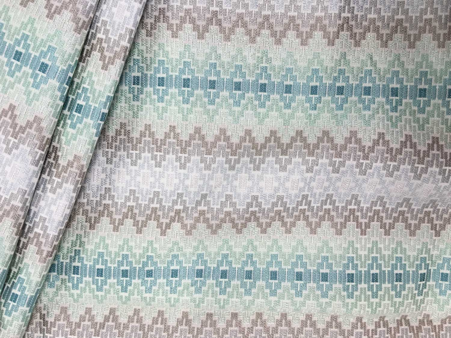 Archipelago Seaspray Upholstery Fabric – Ships Separately For Newest Blended Fabric Fringed Design Woven With Rod (View 11 of 20)