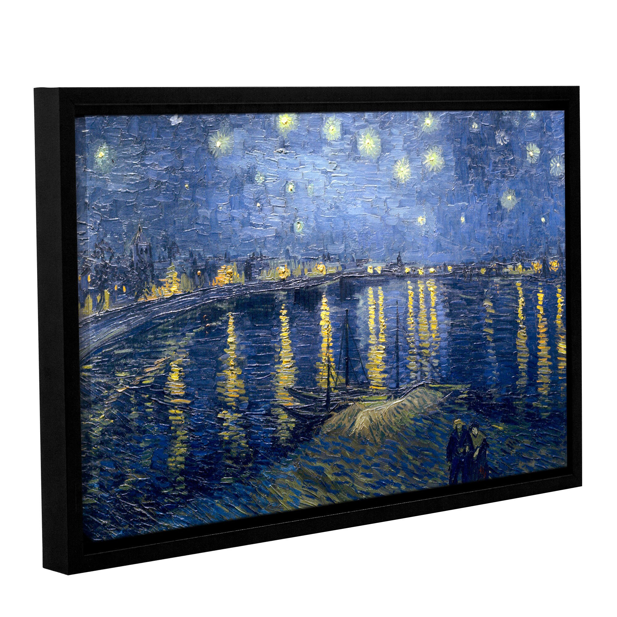 Artwall 'vincent Van Gogh's Starry Night Over The Rhone Intended For Most Recently Released Blended Fabric Van Gogh Starry Night Over The Rhone Wall Hangings (View 2 of 20)