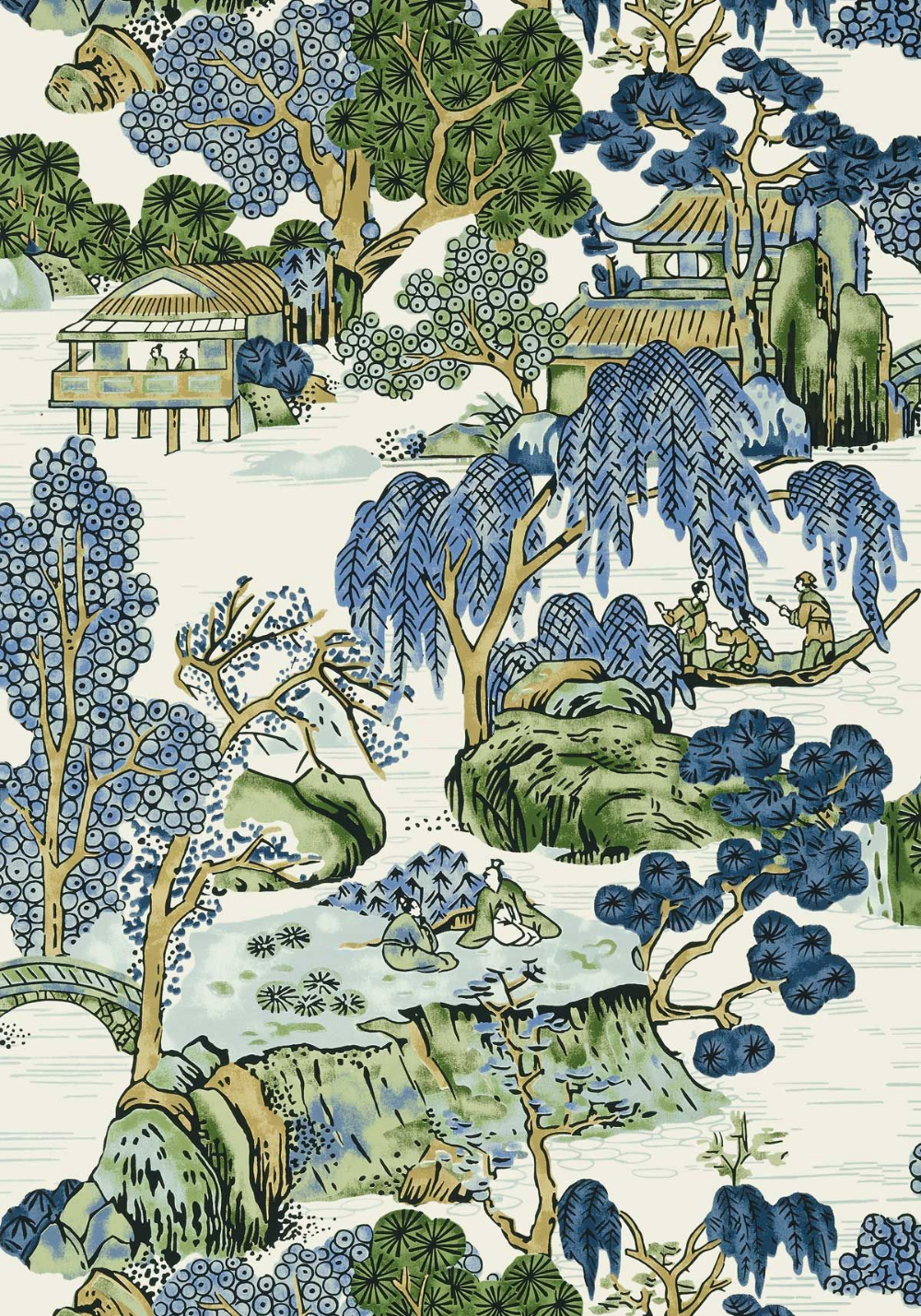 Asian Scenic Wallpaper   Scenic Wallpaper, Thibaut Wallpaper Within Most Popular Blended Fabric Hidden Garden Chinoiserie Wall Hangings With Rod (View 16 of 20)