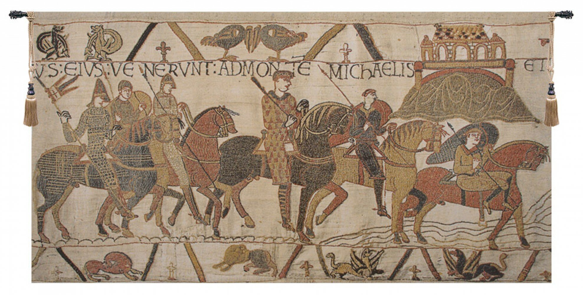 Bayeux Mont St Michael Tapestry Within Most Popular Blended Fabric Bayeux William Troops Wall Hangings (View 9 of 20)