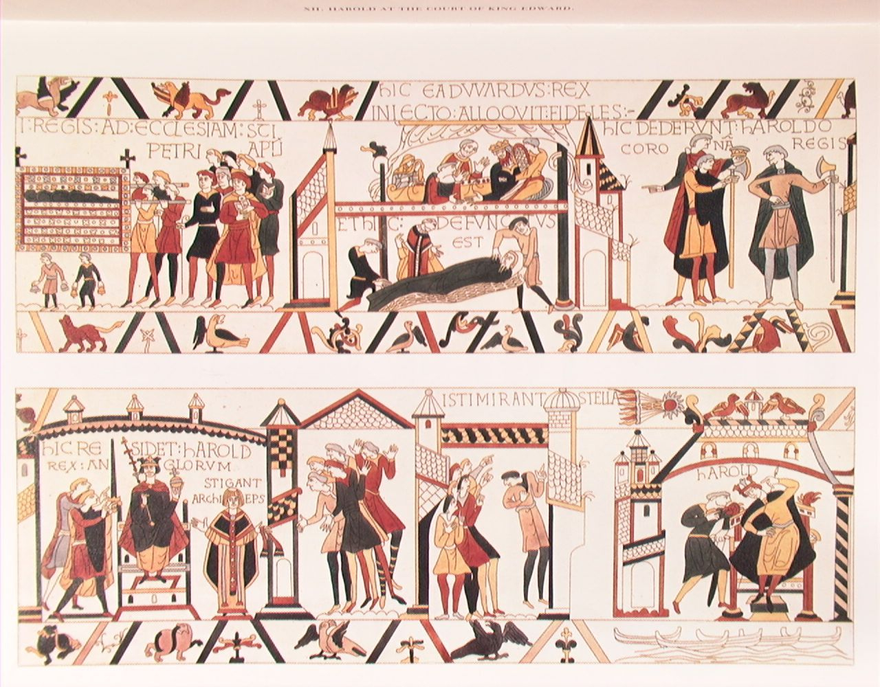 Bayeux Tapestry – Isti Mirant Stella Panel | Bayeux Tapestry Throughout Current Blended Fabric Bayeux William Troops Wall Hangings (View 12 of 20)