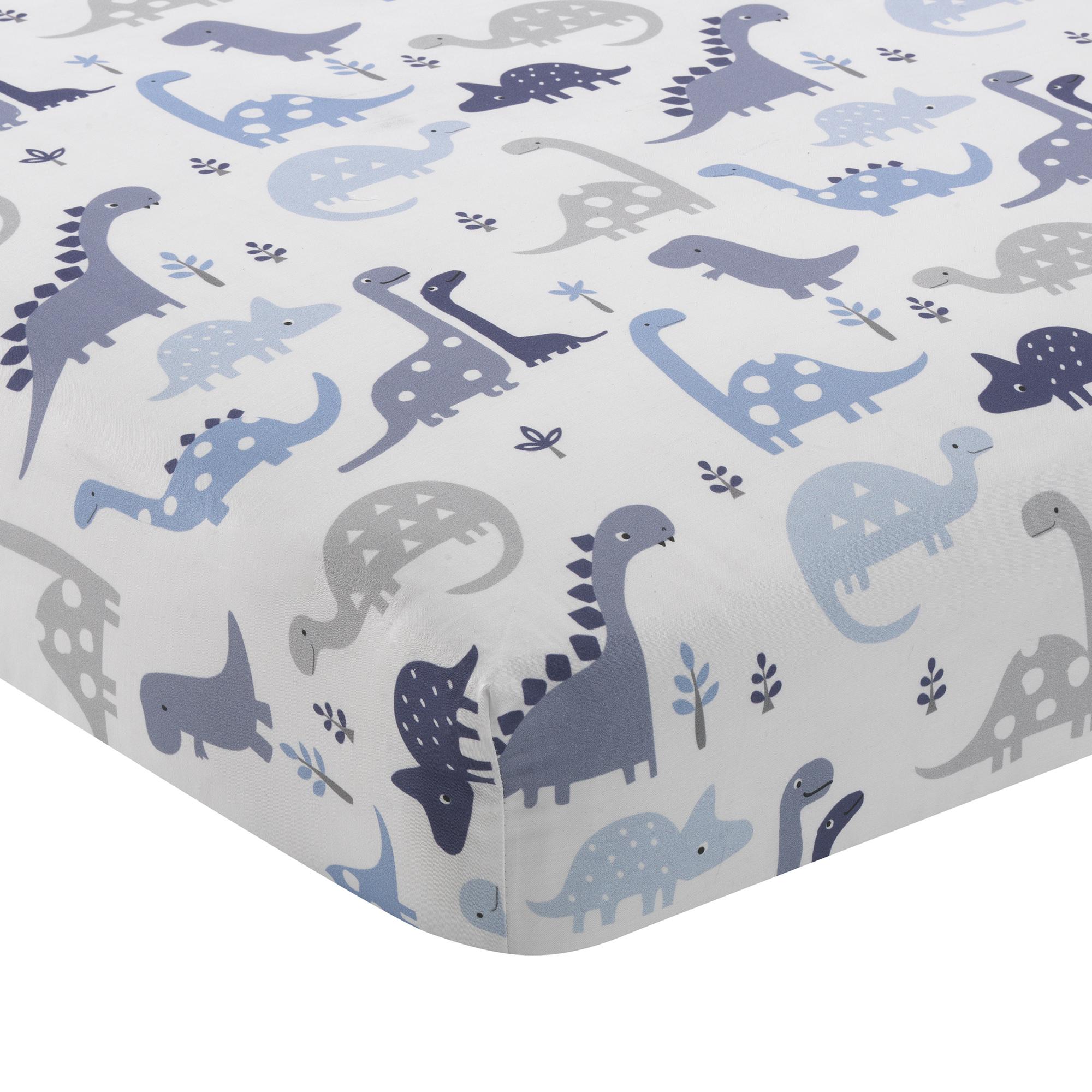 Bedtime Originals Roar Dinosaur 3 Piece Crib Bedding Set Throughout Recent Blended Fabric Mod Dinosaur 3 Piece Wall Hangings Set (View 13 of 20)