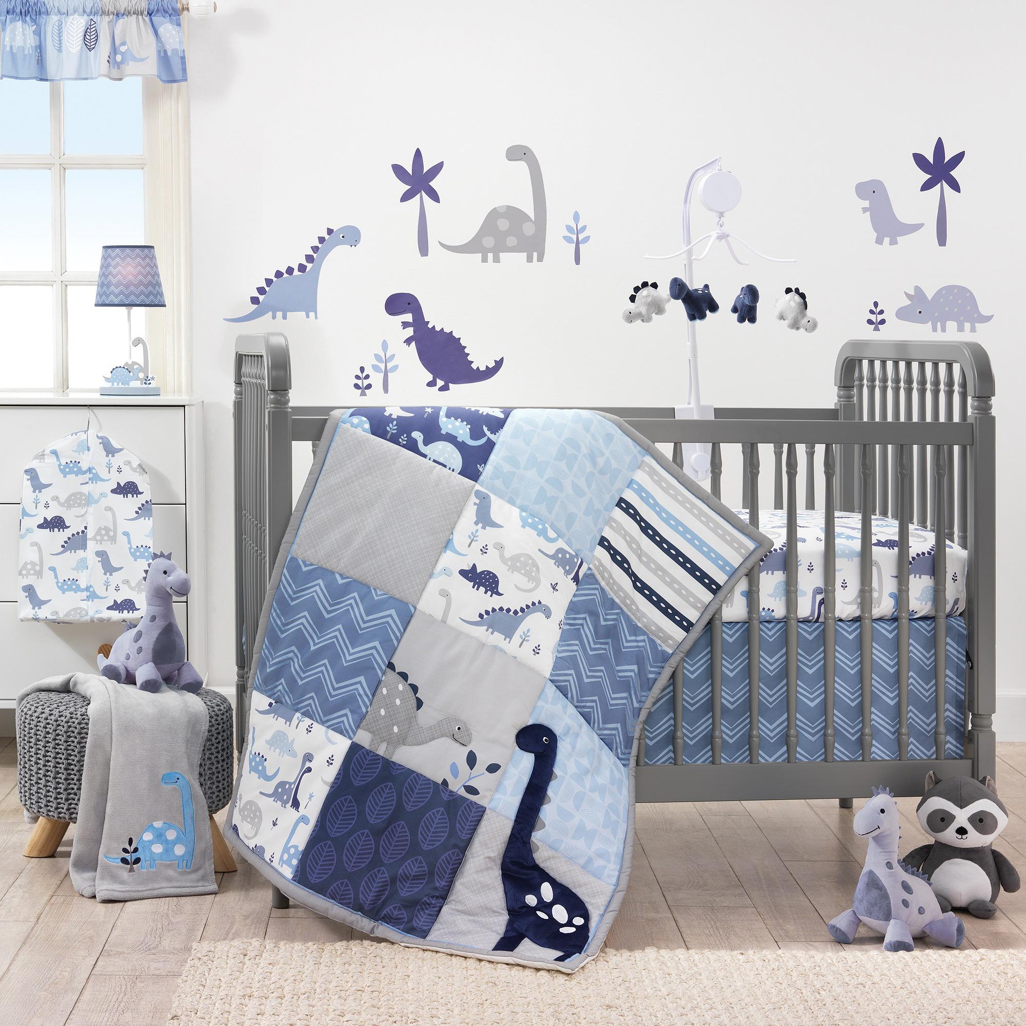 Bedtime Originals Roar Dinosaur 3 Piece Crib Bedding Set – Walmart Inside Most Up To Date Blended Fabric Mod Dinosaur 3 Piece Wall Hangings Set (View 14 of 20)