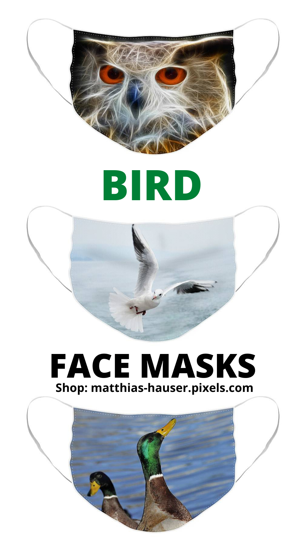 Bird Face Masks | Shop Now! | Face Mask, Face, Mask Shop Throughout Most Popular Birds Face To Face I European Tapestries (View 15 of 20)