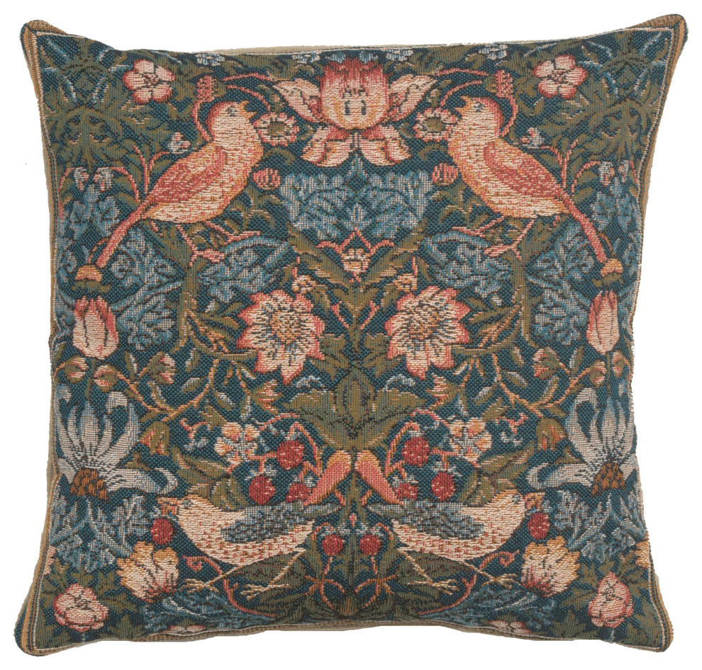 Birds Face To Face French Cushion Cover, Gray Throughout Most Recently Released Birds Face To Face I European Tapestries (View 3 of 20)