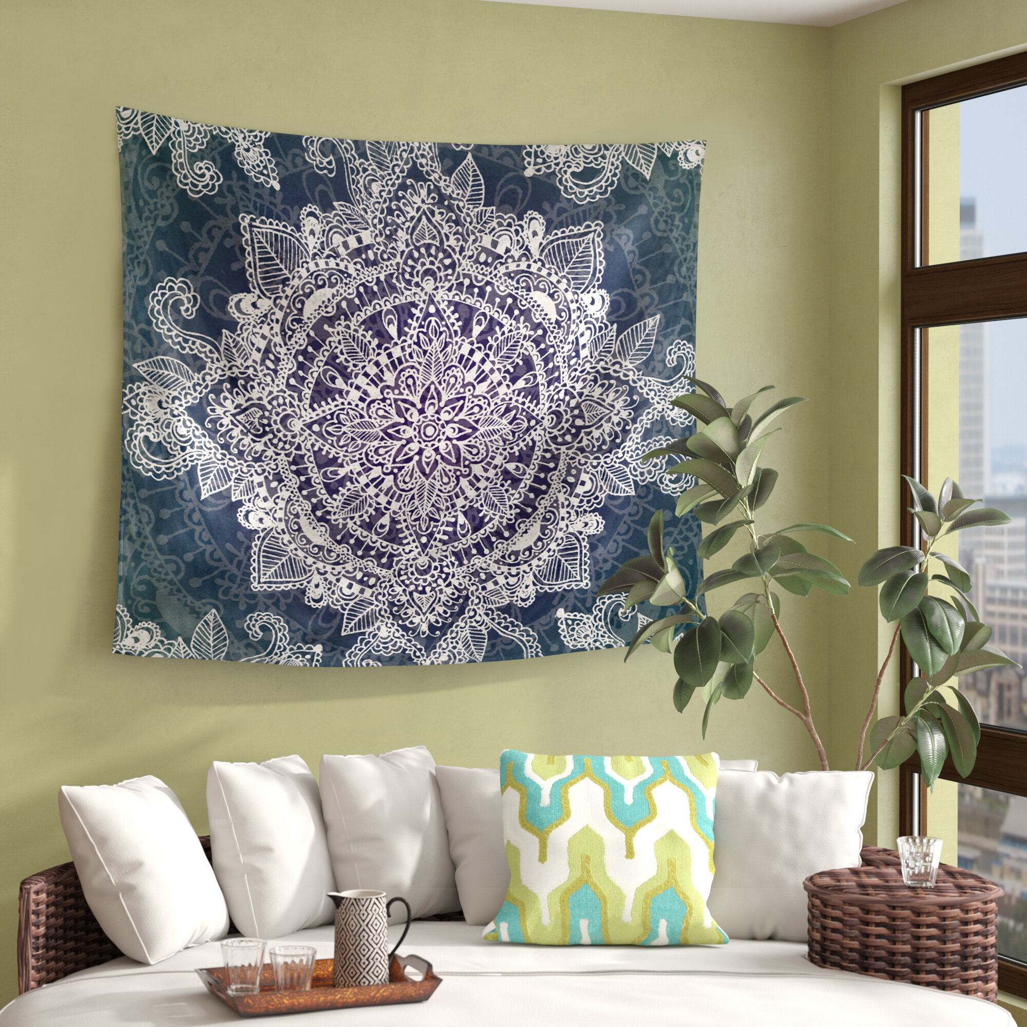 Black Tapestries You'll Love In 2021 | Wayfair In Best And Newest Blended Fabric Spring Party Wall Hangings (View 18 of 20)