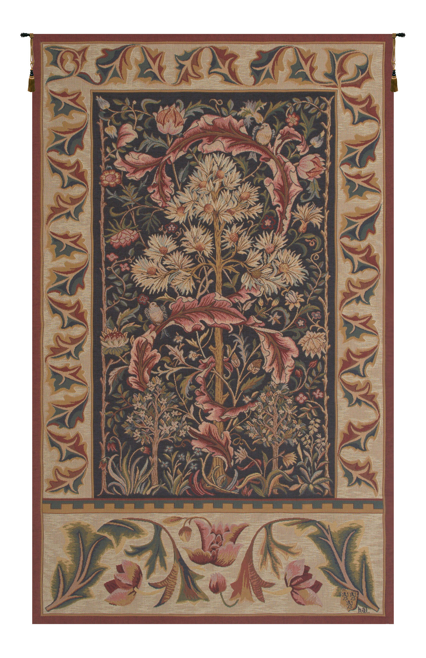 Blended Fabric Acanthus Tapestry Pertaining To Most Recent Blended Fabric In His Tapestries And Wall Hangings (View 5 of 20)