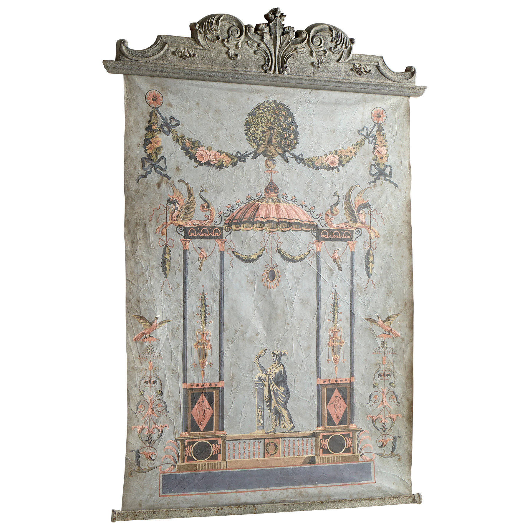 Blended Fabric Ethereal Days Chinoiserie Wall Hanging With Rod Pertaining To Most Popular Blended Fabric Hidden Garden Chinoiserie Wall Hangings With Rod (View 2 of 20)