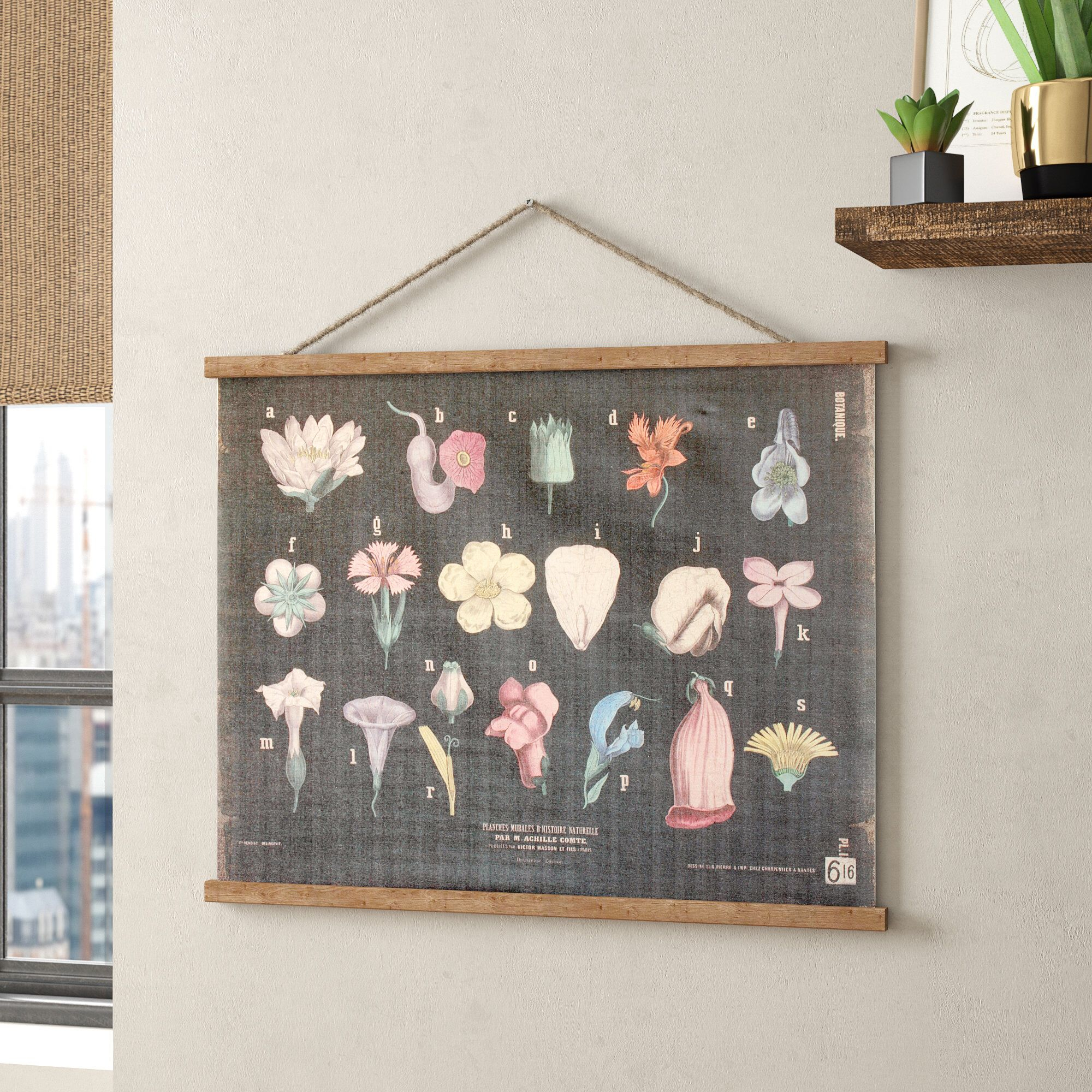 Blended Fabric Hohl Wall Hanging With Rod | Wall Hanging For Most Up To Date Blended Fabric Wall Hangings (View 9 of 20)