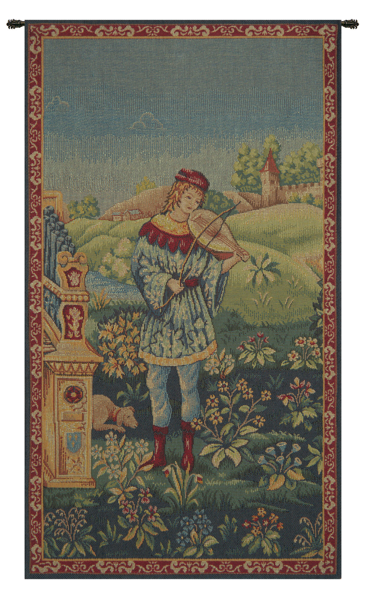 Blended Fabric Le Troubadour Tapestry Inside Most Current Blended Fabric Irises Tapestries (View 2 of 20)