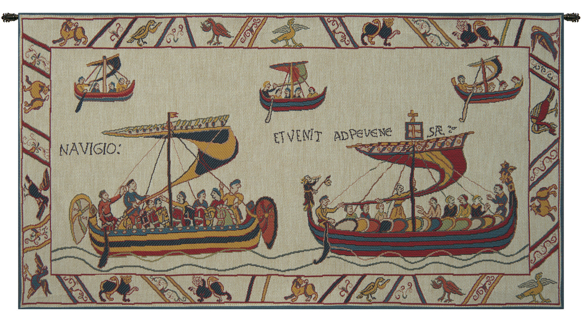 Blended Fabric Les Normands The Norman Fleet Tapestry Inside Current Blended Fabric In His Tapestries And Wall Hangings (View 13 of 20)