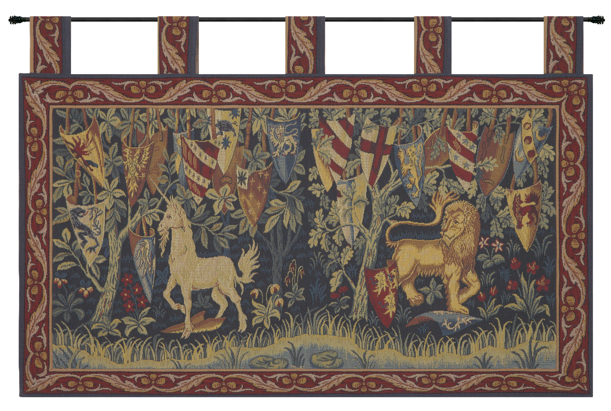 Blended Fabric Lion Et Licorne Heraldiques Tapestry Within Most Up To Date Lion I European Tapestries (View 5 of 20)
