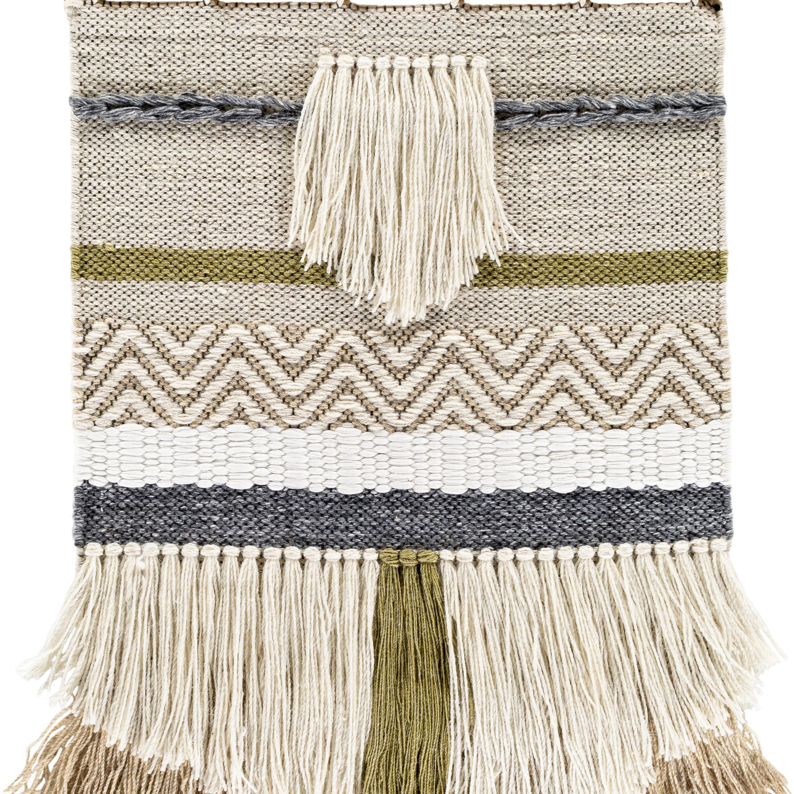 Blended Fabric Saiful Wall Hanging With Rod Intended For 2017 Blended Fabric Fringed Design Woven With Rod (View 2 of 20)